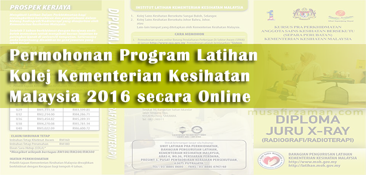 Permohonan Program Latihan Kolej Kementerian Kesihatan Malaysia