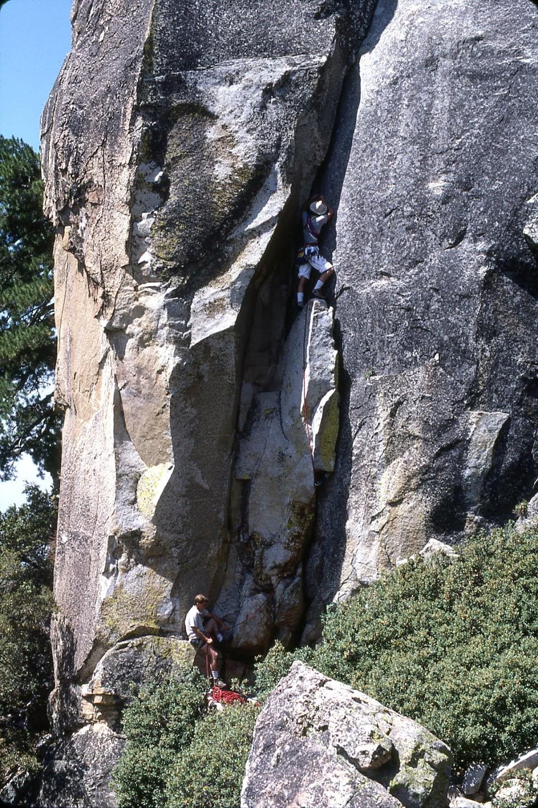 Starting on 'Duet' 5.8..Chimney Rock Spire
