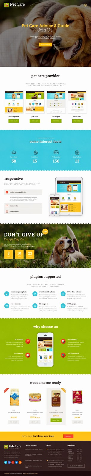 Responsive Pet Care Website Template