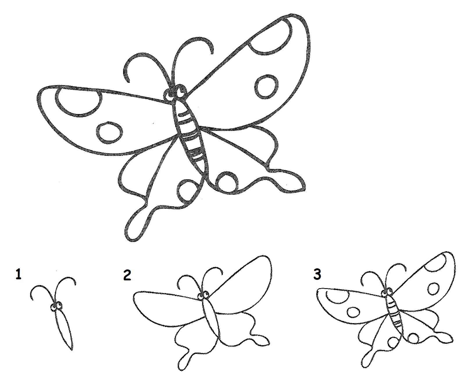 Balajar Menggambar Kupu kupu