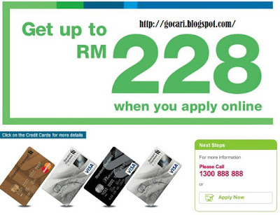 From 7 March to 31 May 2011, get up to RM228 CashBack when you apply