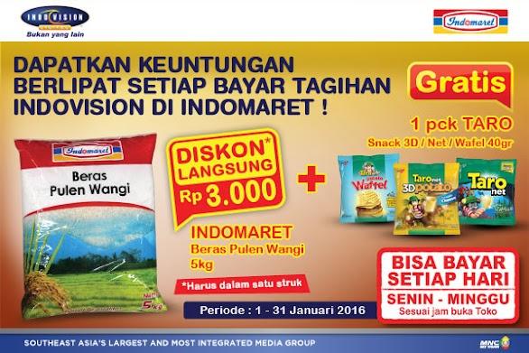 Bayar Indovision Gratis Beras Pulen Wangi di Indomaret