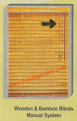 wooden blinds sharp point