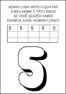 Atividades Numerais - Atividades com Números - Educação Infantil 5