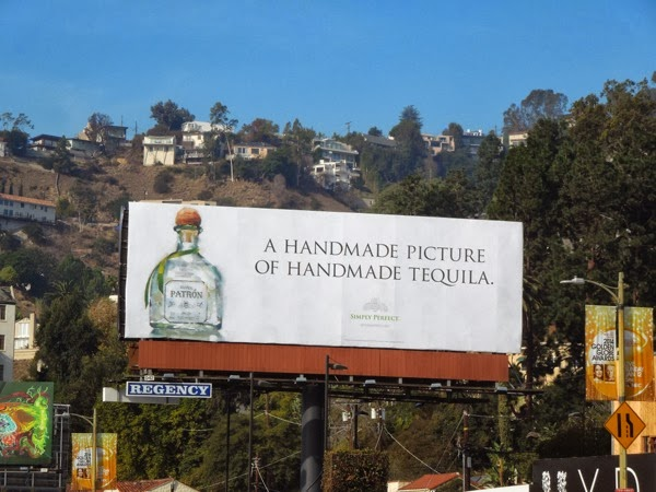 handmade tequila Patron billboard