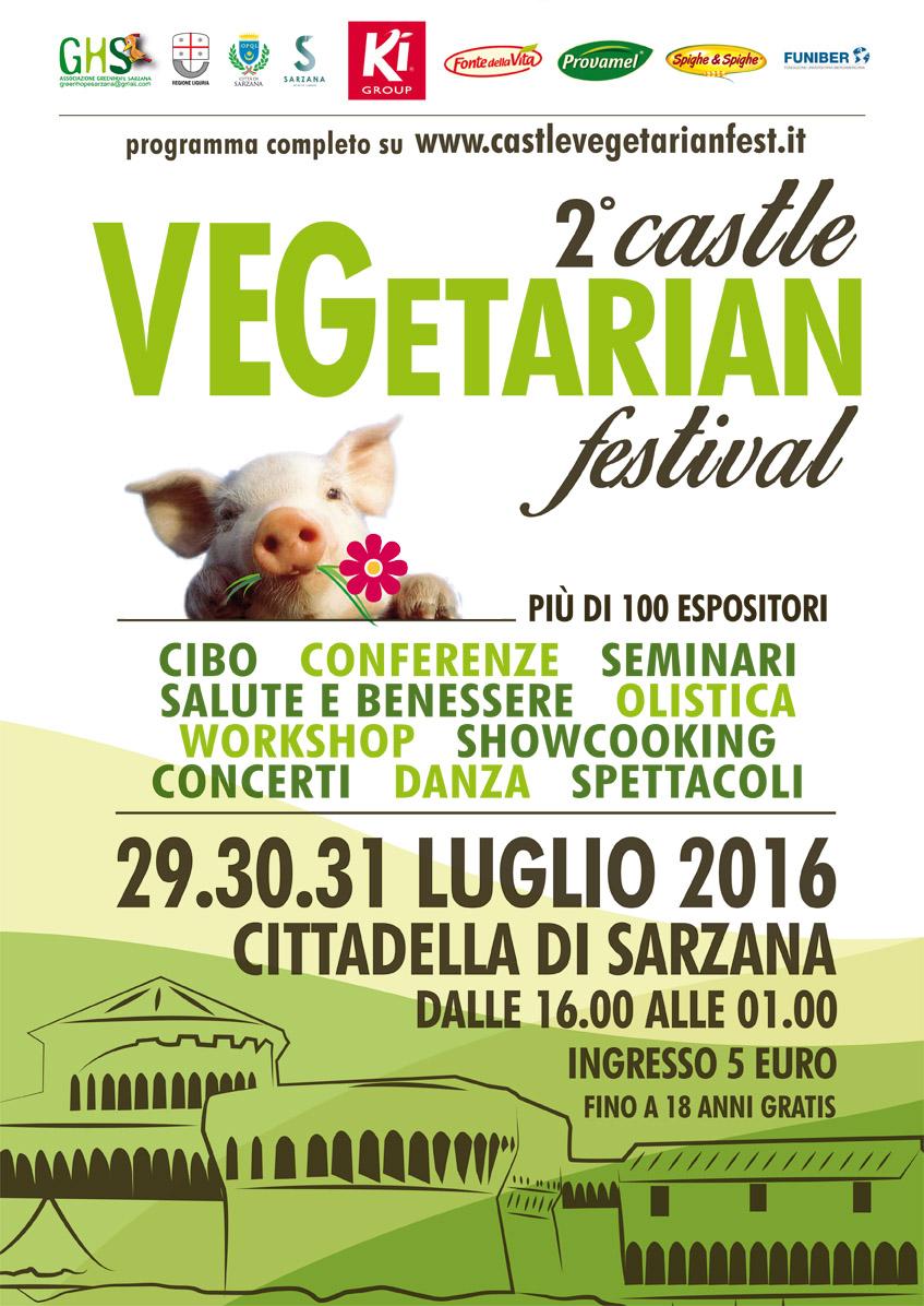 Sarò presente al Castle Vegetarian Festival