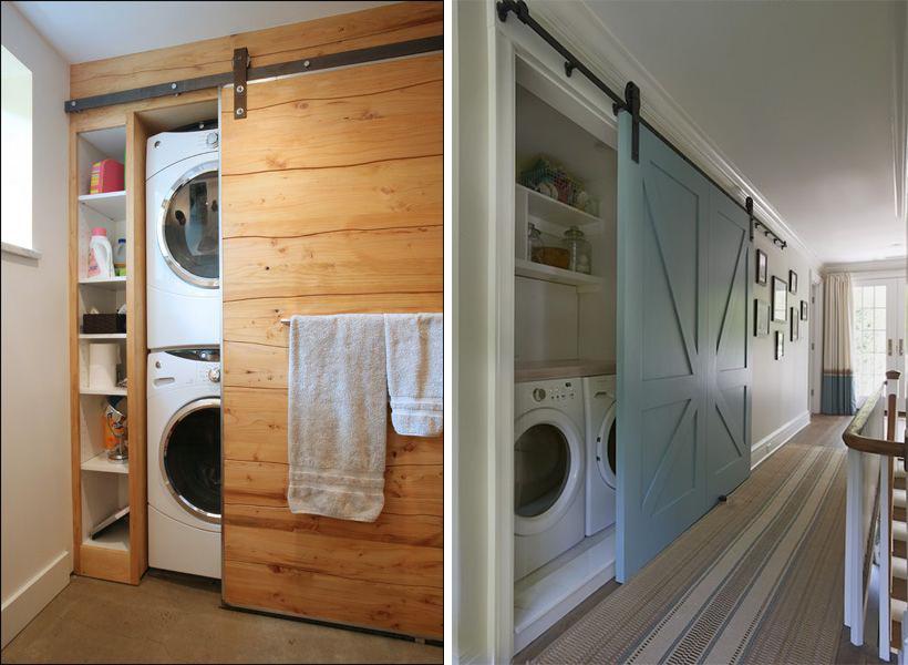 La fabrique d co int grer esth tiquement un lave linge - Salle de bain dans un couloir ...