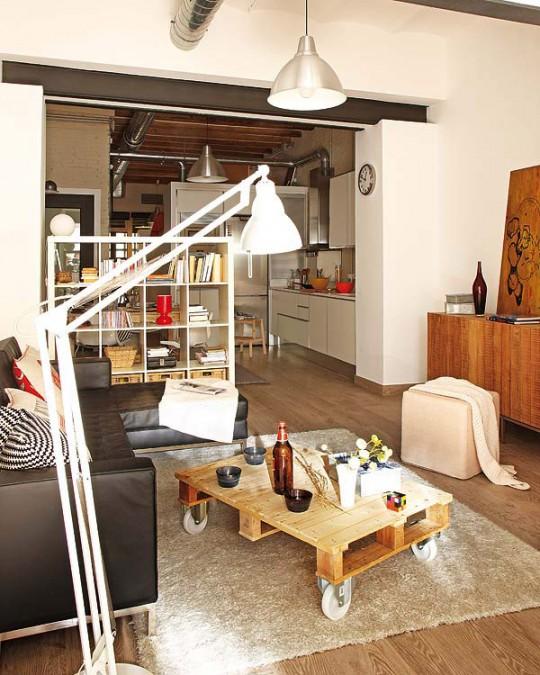 Virlova interiorismo interior apartamento en clave industrial - Ameublement petit appartement ...