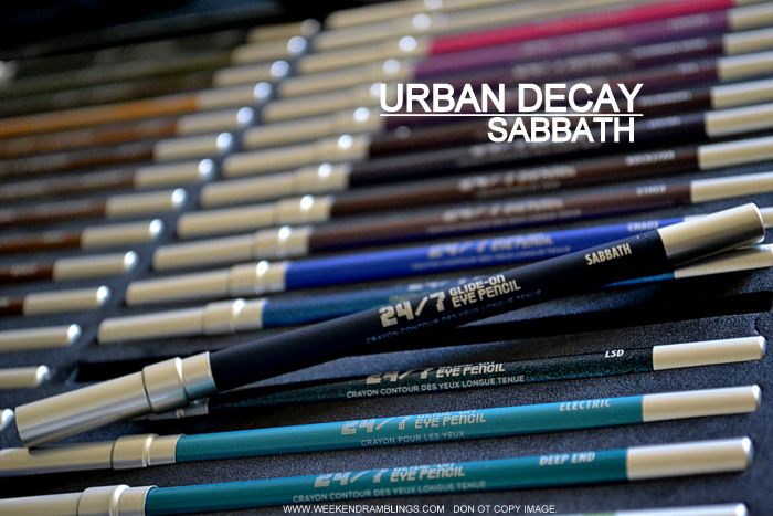 Urban Decay 24x7 Glide On Eyeliner Pencil New Shade Sabbath Blue Navy Photos Swatches Review FOTD Indian Darker Skin Makeup Beauty Blog