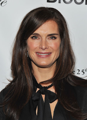 Brooke Shields Long Side Part Hairstyle Photo