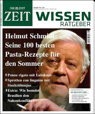 ZEIT Wissen: Helmut Schmidt: Seine 100 besten Past-Rezepte für den Sommer!