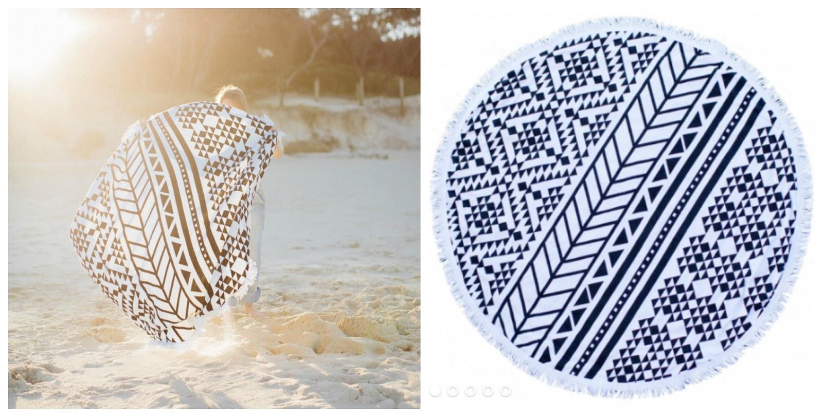 rundes strandtuch