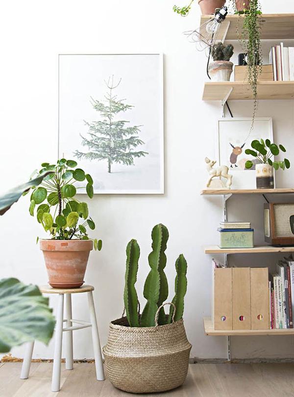 Boho deco chic 12 ideas para decorar con una cesta for Panier deco salon