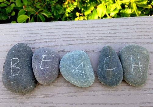 DIY Message Rocks Nature Craft