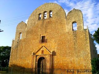 Fachada Iglesia Conventual Conkal San Francisco Asis Yucatan Mexico