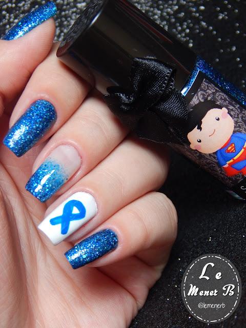 nail art novembro azul