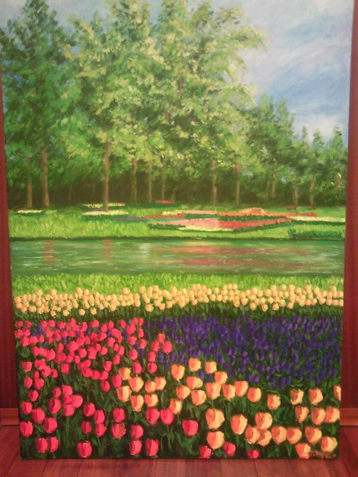 Jardin de tulipanes holanda arte arguello arco iris - Jardines de tulipanes en holanda ...