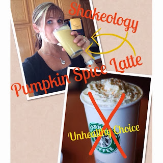 Pumpkin Spice Latte, Pumpkin Spice Latte Shakeology, Healthy, Clean Eating Stripped