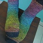 http://www.ravelry.com/projects/yacurama/broken-seed-stitch-socks-2
