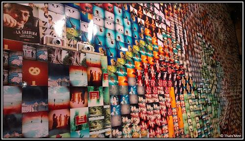 le wall de clichés boutique Lomography store rue sainte croix de la Bretonnerie Paris