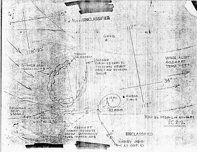 UFOs Sighted Over Long Beach; F86 Fighter Jets Scrambled! (Map) 9-23-1951