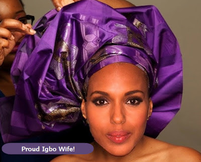 kerry washington in gele