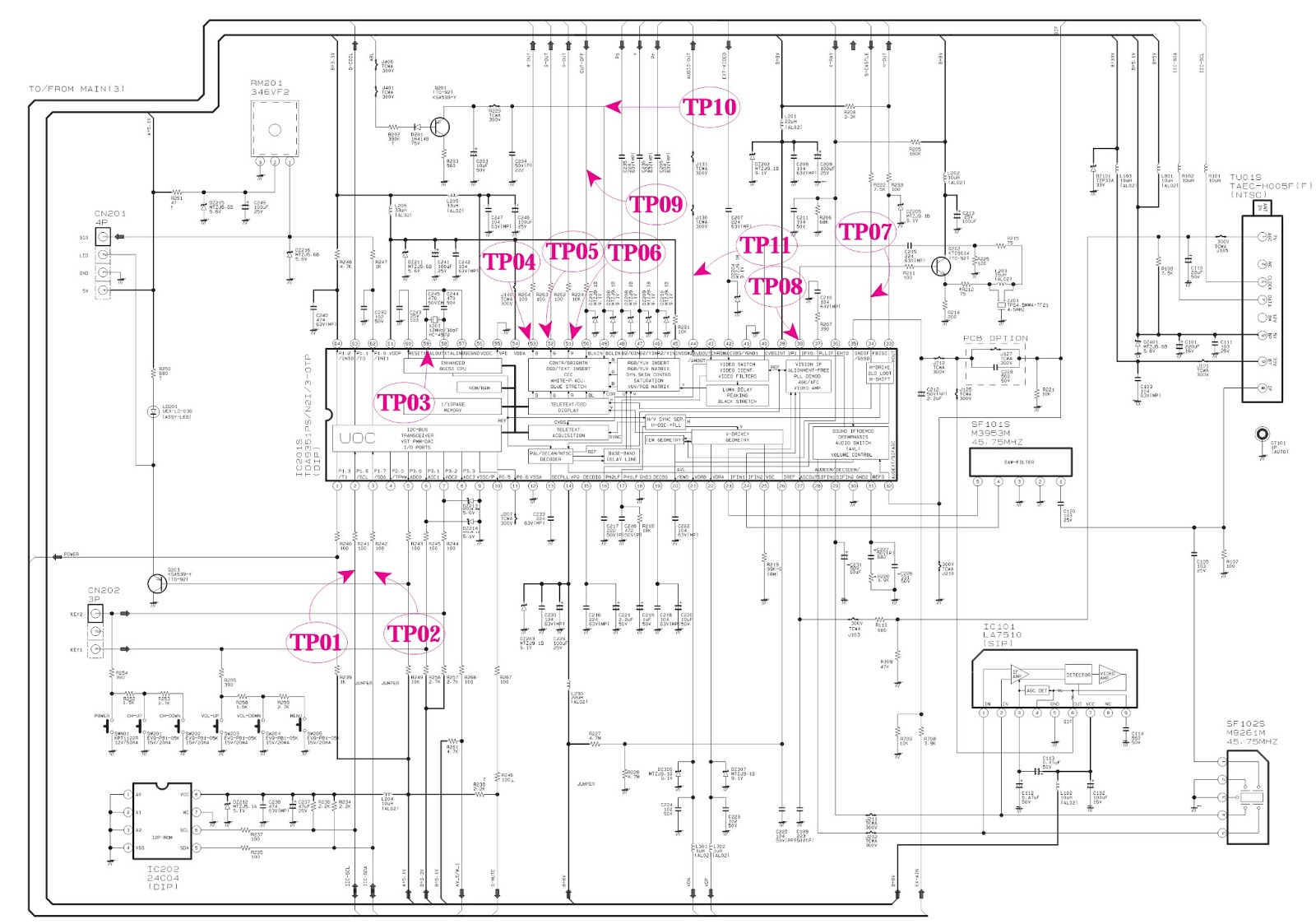 MICOM.bmp samsung txp2011 main power [smps] & micom schematic (circuit  at bayanpartner.co