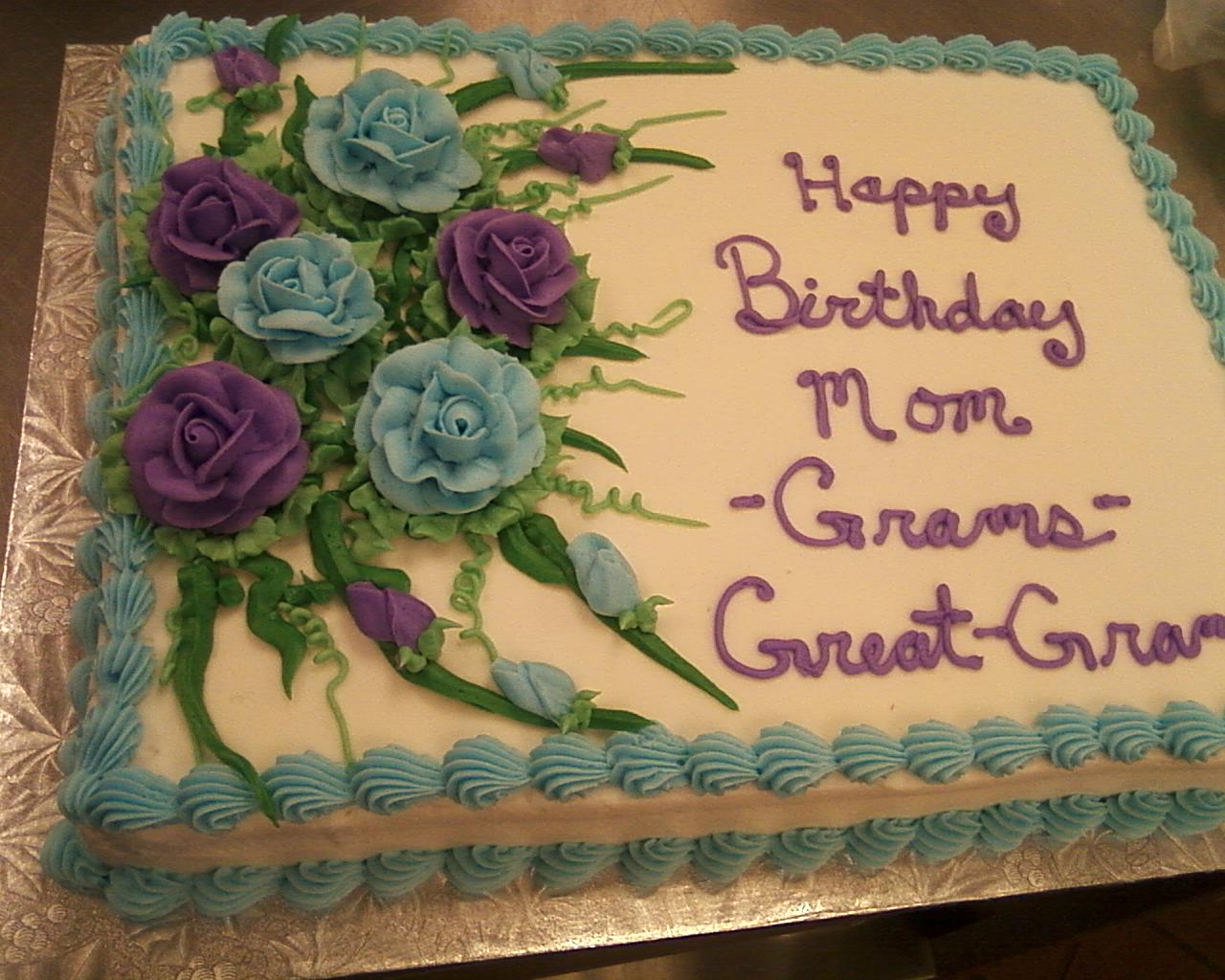 Half sheet birthday cake