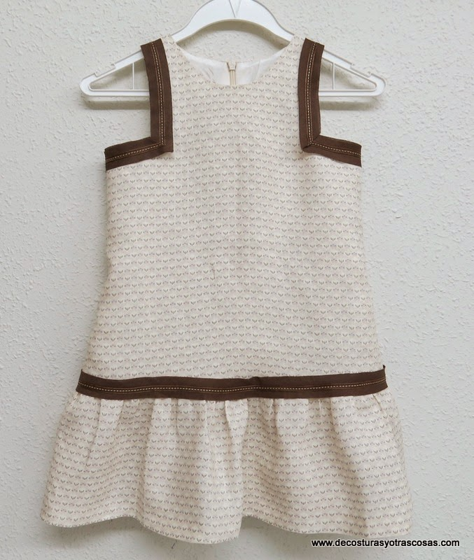 Tutorial vestido niña sin mangas con sisas cuadradas