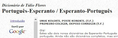 Dicionário de Túlio Flores Português-Esperanto / Esperanto-Português