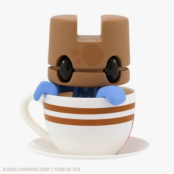 """Q-Tea II"" Lunartik Mini-Tea 10th Anniversary ""Year of Tea"" Vinyl Figure by Matt JOnes"