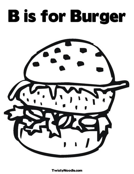 here is a burger coloring pages food enthusiasts for you on this one you can print out the images below for a burger colored with your favorite colors