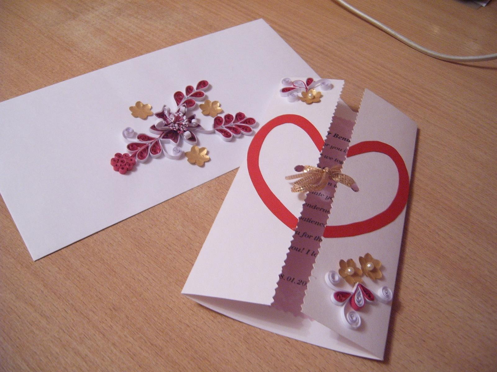 С днем свадьбы открытку своими руками из бумаги