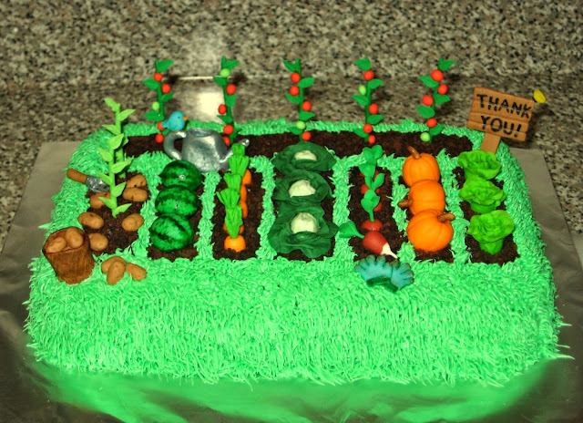 Teacher Appreciation Garden Cake 1