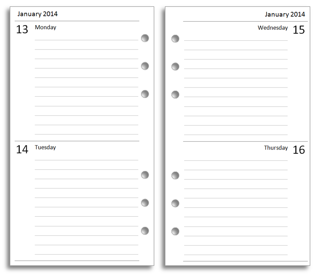 Microsoft Word Diary Template format for an invoice