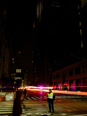 East 39st 5th Avenue Manhattan under Sandy hurricane