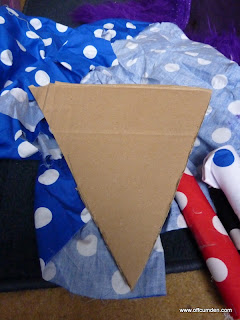Cutting bunting triangles