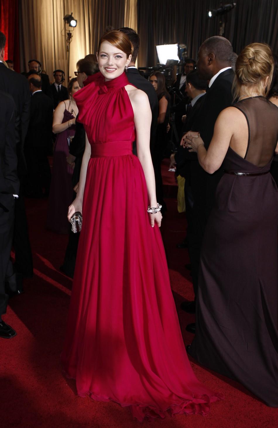 Emma Stone Dress At Oscar Awards 2012