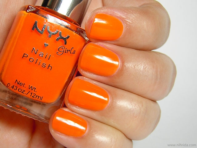 NYX Girls Nail Polish in Hot Orange