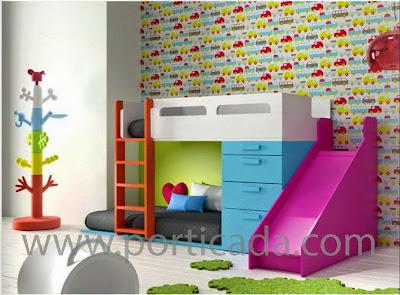 dormitorio juvenil, www.porticada.com, cama, litera, cama tren, Guadalajara, Madrid