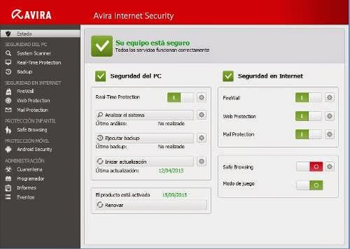 Avira internet security 2013 until 2020
