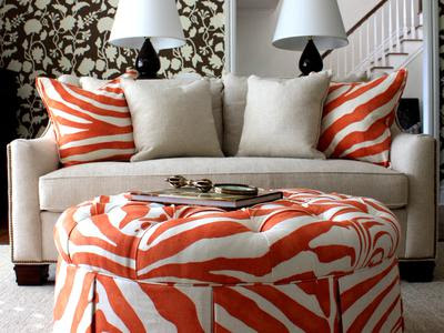 orange with animal print palate