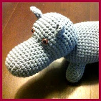 Hipopótamo amigurumi