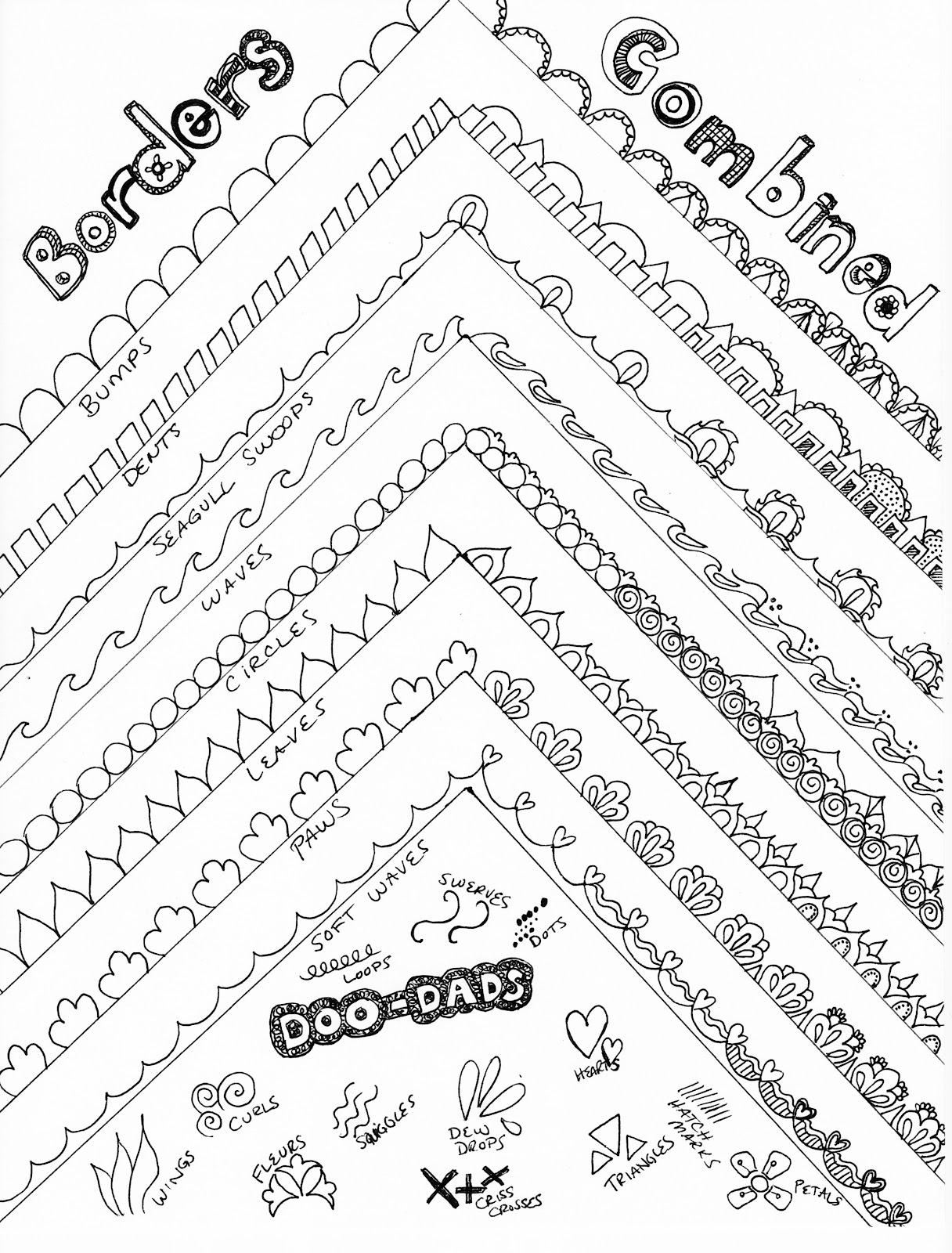 Line Drawing Borders : Periwinkle paisley how to draw fancy borders