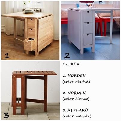 I d e a mesas plegables o abatibles para la cocina for Mesas para cocinas estrechas