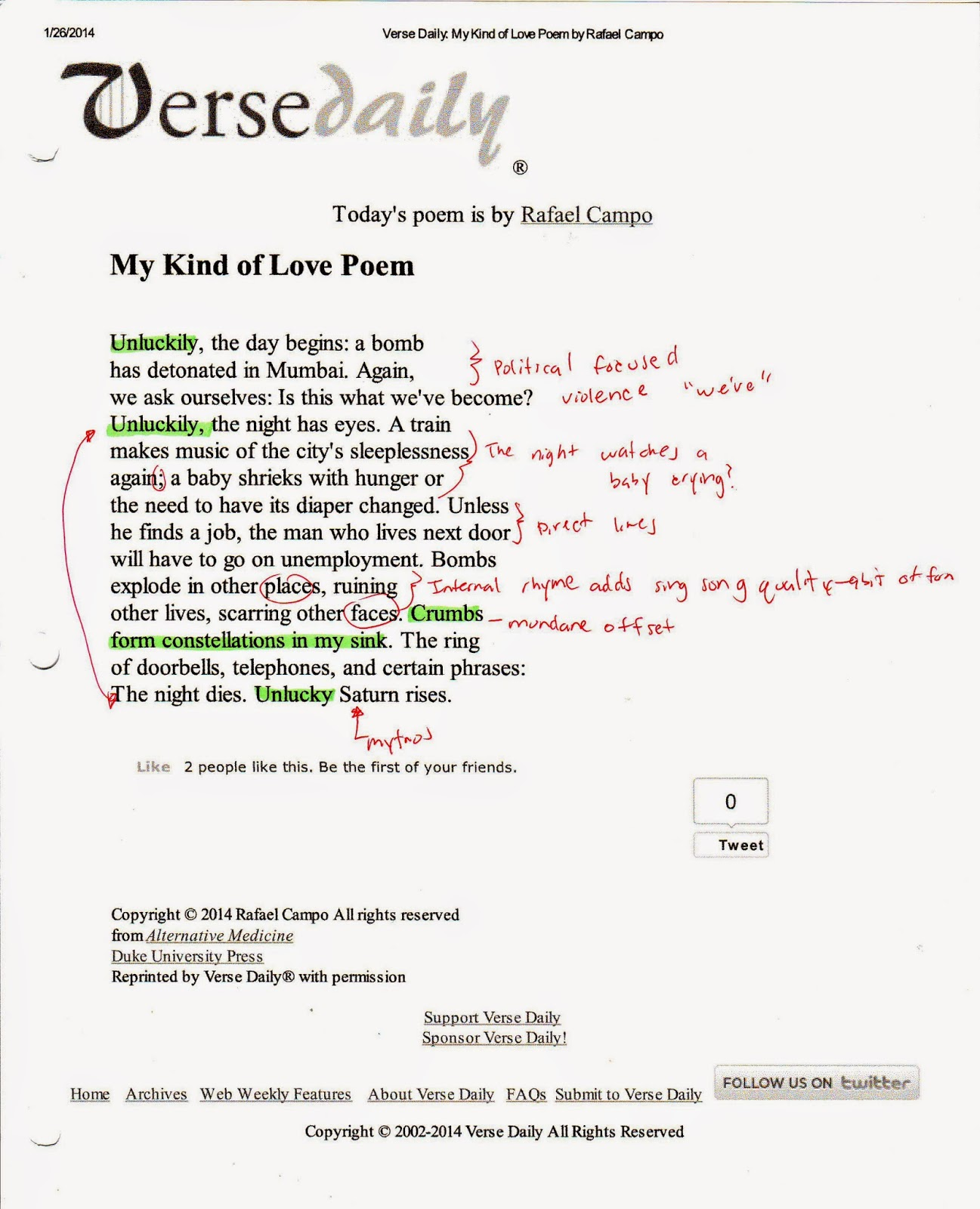 thesis of a poem In her essay, my emily dickinson, the american poet and critic  as she  documents her failed senior thesis on the writer: i could find nothing.