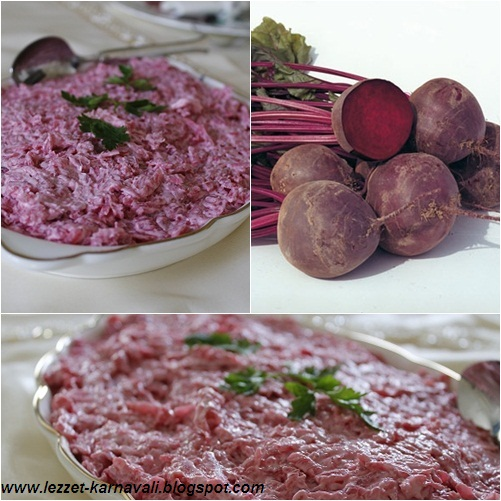 Yoğurtlu pancar salatası malzemeler 4 adet orta boy pancar 4çorba