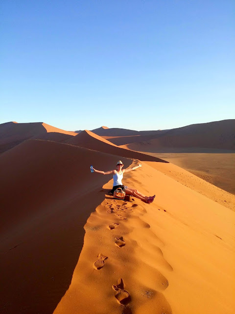 At the top of Dune 45, Sossusvlei
