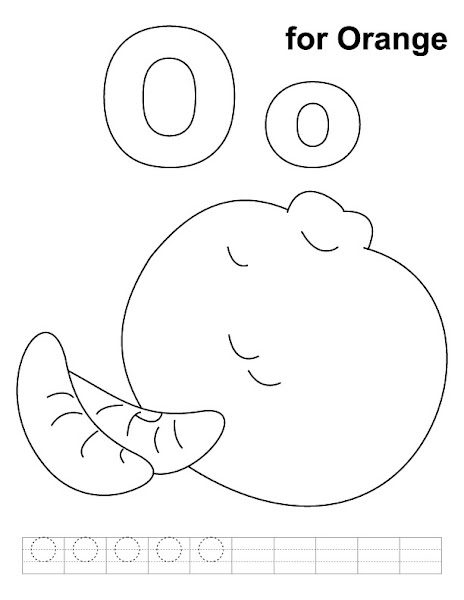 Preschool Letter O Coloring Pages