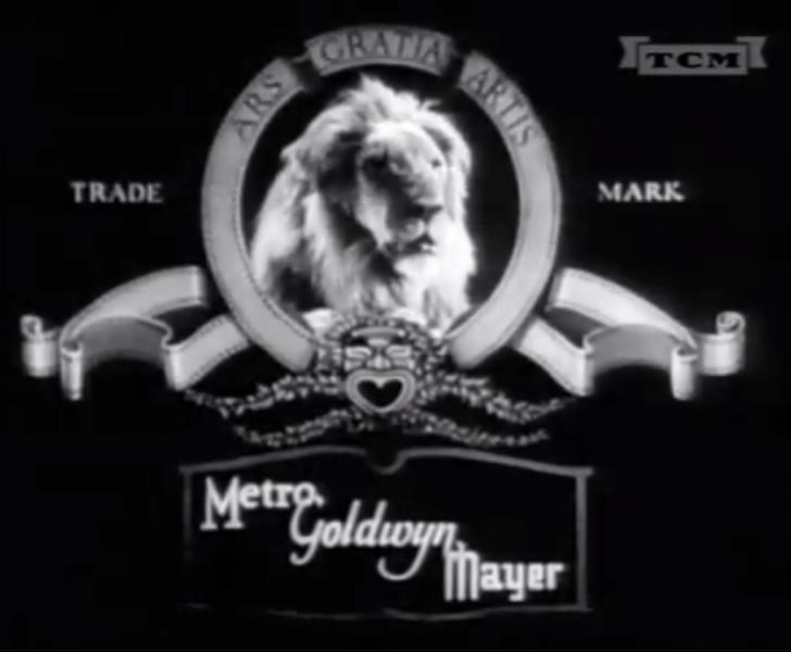 Metro Goldwyn Mayer black and white logo